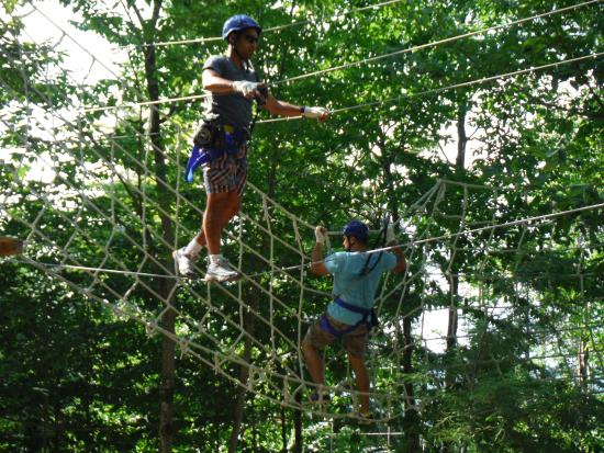 North River, NY: Ropes Obstacle on the Aerial Zipline Course