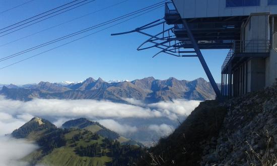 Moleson, Ελβετία: Panorama dalla cima