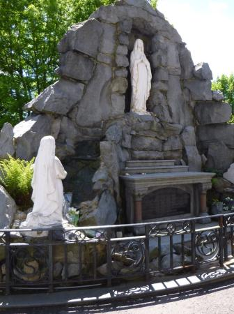 St. Eugene's Cathedral: Outside  grotto/ statue