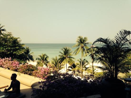 The Surin Phuket: view from the lobby/dining hall