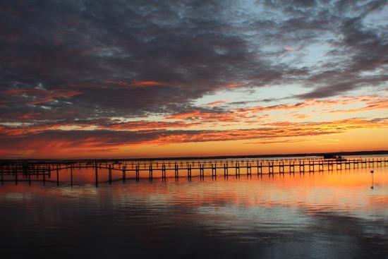 Birchwood Inn: The most amazing sunsets from their 700' dock