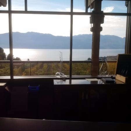 Over looking the Valley ... wine tasting bar :)