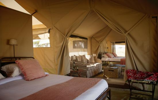 Serengeti Safari Camp, Nomad Tanzania: NEW family tents have two full size en-suite tents with adjoining sitting area, ideal for famili