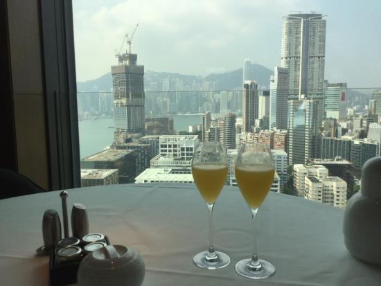 View From Above And Beyond Restaurant 28th Floor At Breakfast