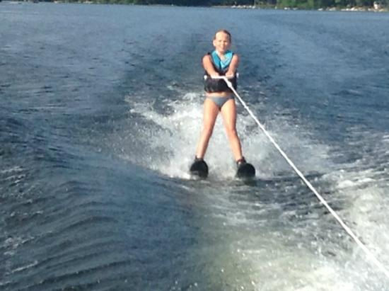 Naples, ME: Learning to ski