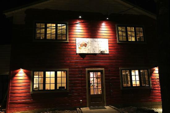 Adirondack coffee: New location at night