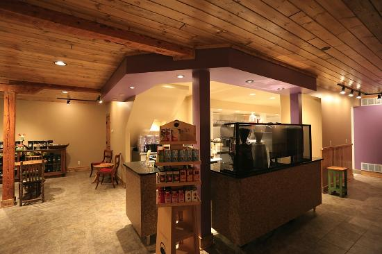 Adirondack coffee: Inside before furniture