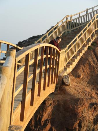 Puerto de Mazarron, Spain: The wooden stairway