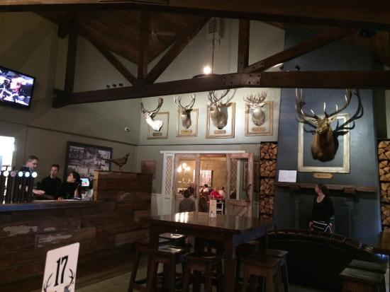Five Stags Hanmer Springs: The decor in the bar area - worth photographing