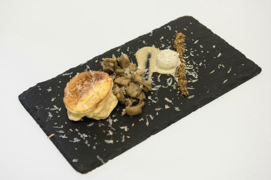 ristorante da Sapi: Tortino al fatulì Presidio Slow food con funghi porcini