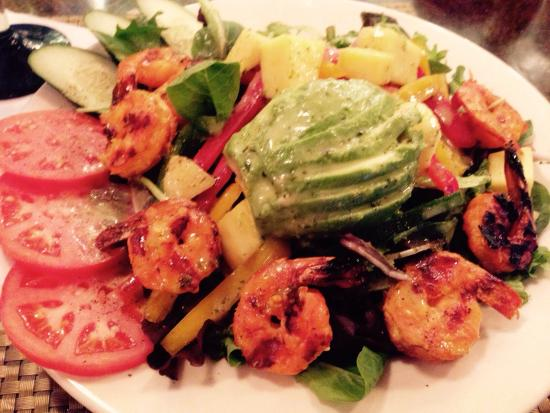 Agave Mexican Bistro : Avocado and grilled shrimp salad