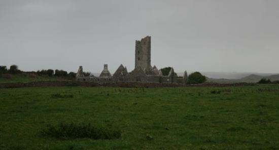 Moyne Abbey in the distance