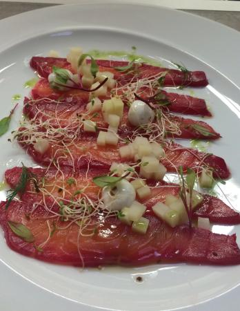 cachaça marinated salmon... delicious!