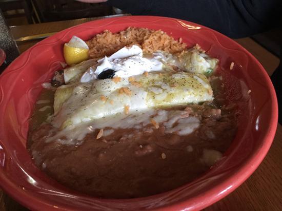 world's worst crab enchilada, Red Hen Cantina