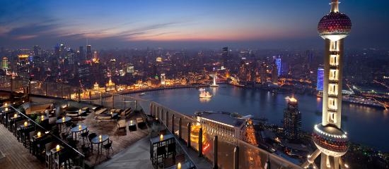 The Ritz-Carlton Shanghai, Pudong: Night view from Flair Rooftop Bar