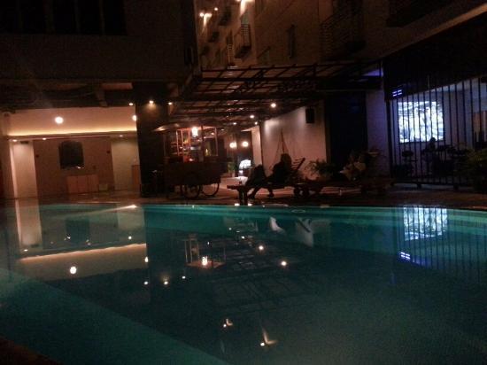 Mansion with pool at night  night pool - Picture of Nagoya Mansion Hotel & Residence, Nagoya ...