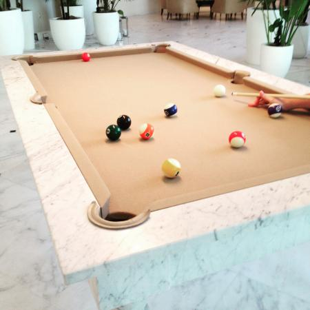 The Miami Beach EDITION: Chic Billiard Table