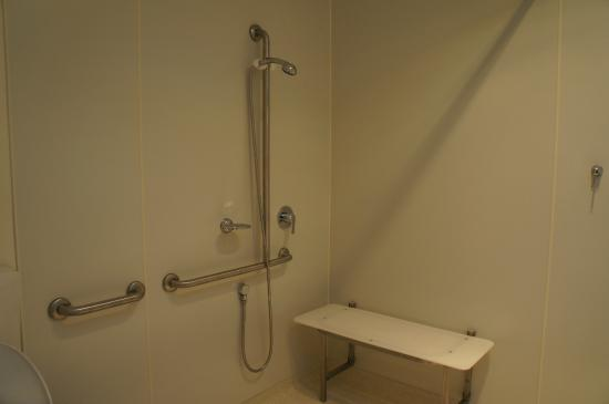 Disability access bathroom in Room 7 - Picture of Railway Hotel ...