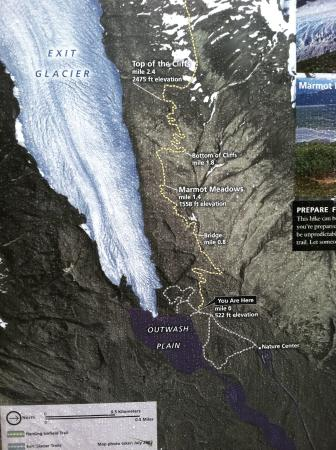 Park Map Picture of Exit Glacier Kenai Fjords National Park