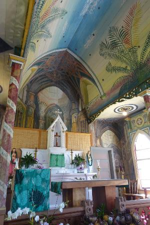 Ookala, Hawaï : Beautiful hand painted church