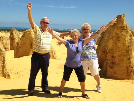 Jumping for joy in the Pinnacle Desert - Picture of Luxury