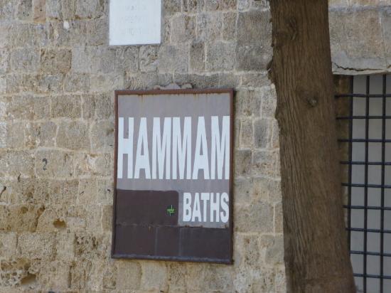 Great Hamam : Hammam Signboard