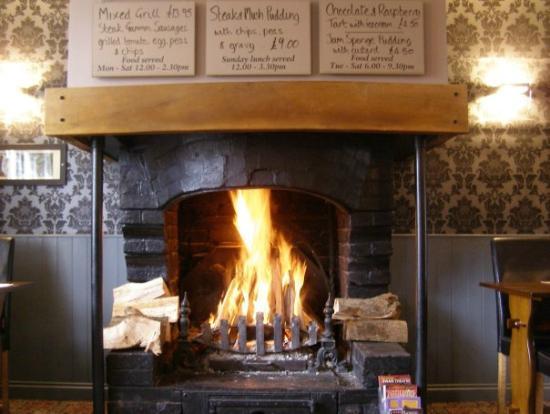 Stokenchurch, UK: Winter Fire