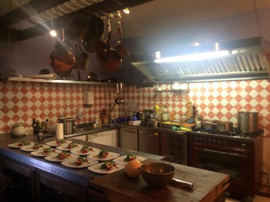 Etyek, Ungarn: The kitchen area where the food was prepared.