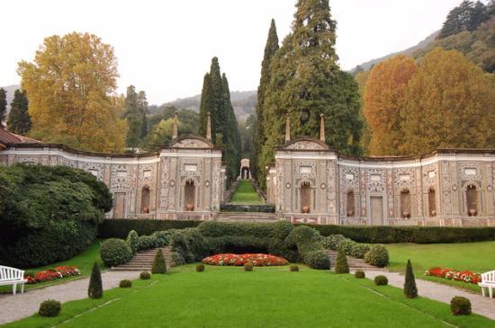 Villa d'Este: вид сад