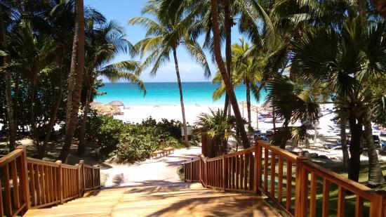 Vista da praia dentro do Hotel...