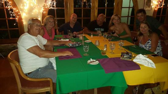 Le Vendôme: Group at dinner