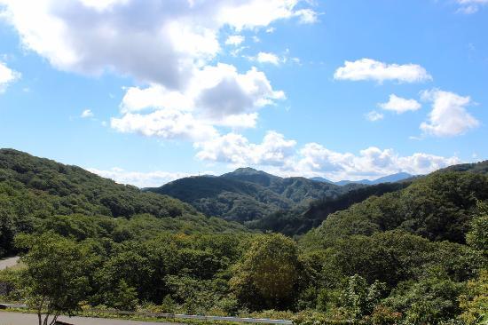 Kunimi Onsen: 石塚旅館からの風景