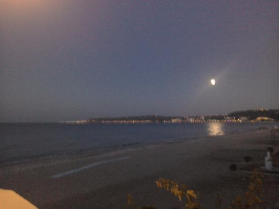 Moon rising over Rhodes