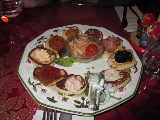 Kalinka: assiette de blinis