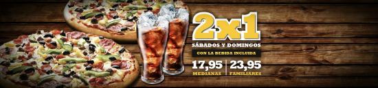Fuensalida, España: Promoción 2x1 sabados y domingos