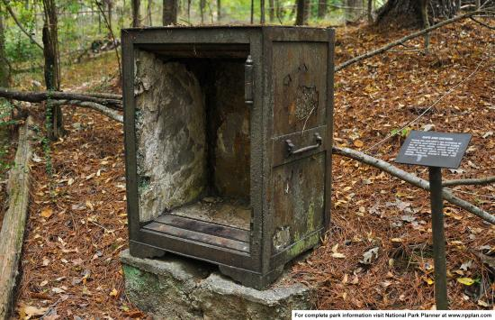 Old safe left at the Rocky Springs Ghost town, Natchez Trace Parkway MP 54.8