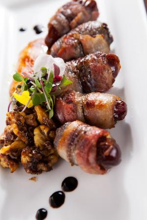 Fuse Global Cuisine : Bacon wrapped dates