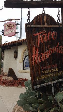 Taco Hacienda on the corner of Acoma & Mesquite
