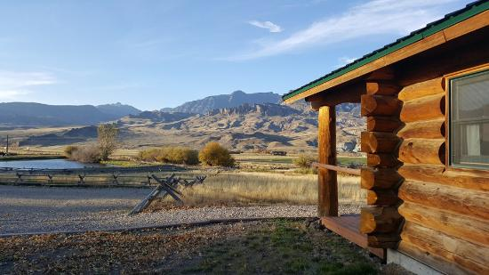 Wapiti, WY: Our cabin and its view.