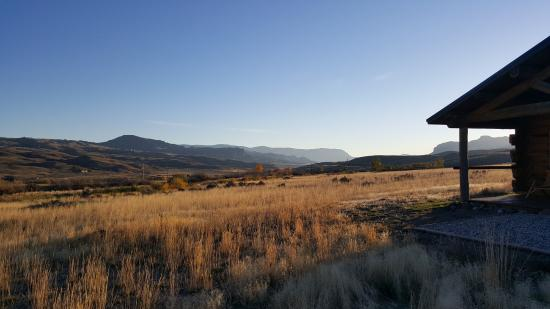 Wapiti, WY: View from the front of our cabin.