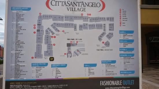 Outlet Citta Sant'angelo: Lojas existentes