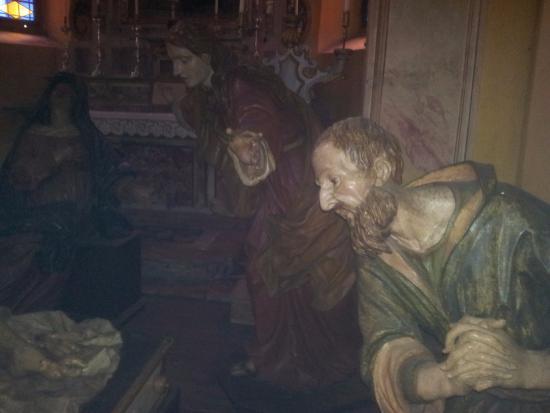 Rovetta, Itálie: Particolare della deposizione opera del Fantoni