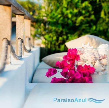Posada Paraiso Azul : Detalle Terraza