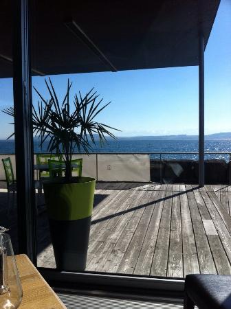 Hauterive, Svizzera: Vue depuis le restaurant
