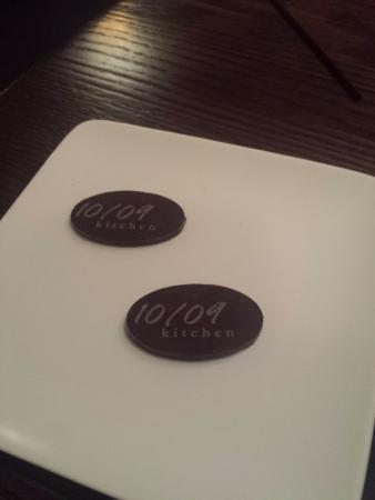 Fabulous little logo after dinner chocolate!  Nice little treat!