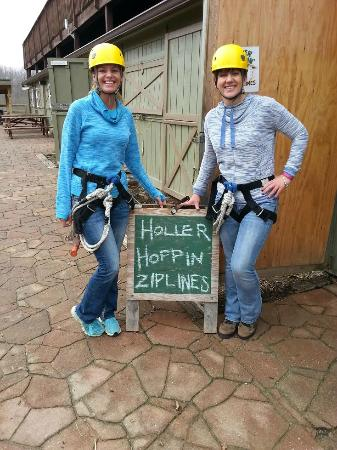 Holler Hoppin' Zip Lines: Yep, that's our sign