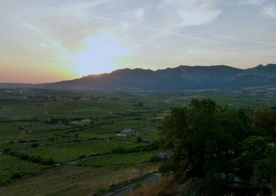 Erletxe: Sun setting in the Rioja wine region of Spain!