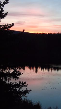 Idabel Lake, Canada: Sunset/reflection on Lake