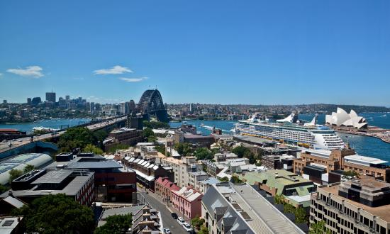 View Premier Grand Harbour Room Shangri La Hotel Sydney Australia