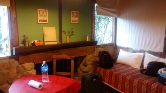 Casona y Cabanas Rio Mendoza: estar de la cabaña